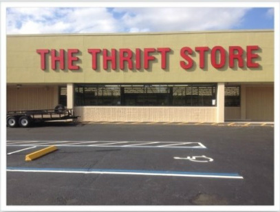 The Thrift Store where we donate used cleaning rags and buy some supplies